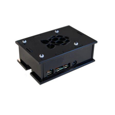 Behuizing voor de Raspberry PI 4B - Zwart