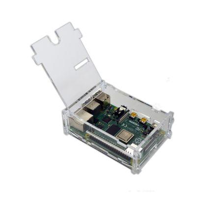 Behuizing voor Raspberry PI 4 met klepje - Transparant