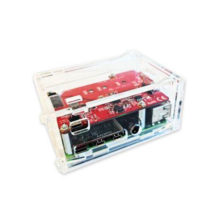Behuizing voor M.2 SATA SSD-uitbreidingsprintplaat voor Raspberry Pi 4