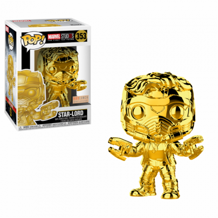 Funko Pop! MS 10: Star Lord Chrome Special Edition Exc. #353 BOXDAMAGE