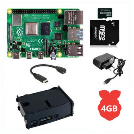 Raspberry Pi 4 Model B / 4GB Starter Kit compleet