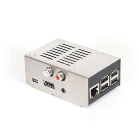 Stalen Behuizing voor Hifiberry DAC-RCA+ board RVS