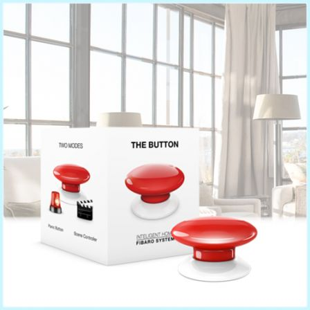 Fibaro The Button / FGPB-101-3 ZW5 - Rood