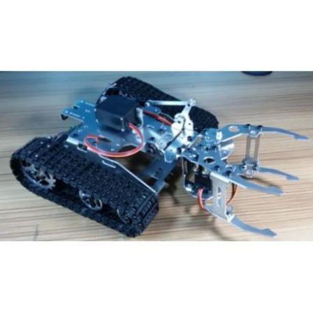 Rupsvoertuig met aluminium frame + 2 rupsbanden Maat 3 met grijper