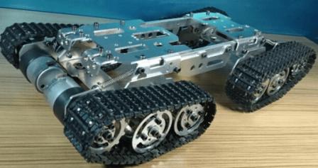 Rupsvoertuig met aluminium frame + 4 rupsbanden Maat 4