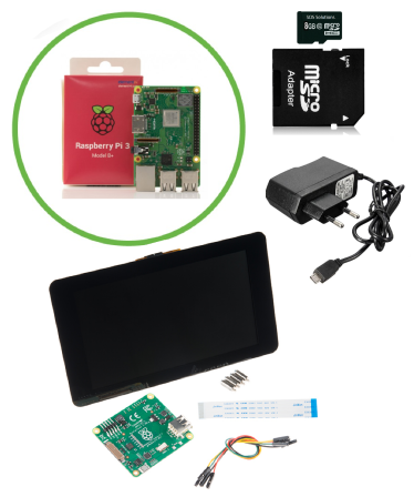 Touchscreen Starter Kit met Raspberry Pi 3B+ (2018-2019)