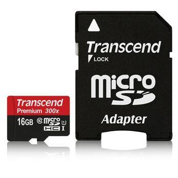 Transcend 16GB Micro SDHC Premium 90MB/s