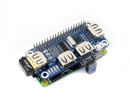4-Poorts USB Hub HAT voor Raspberry Pi