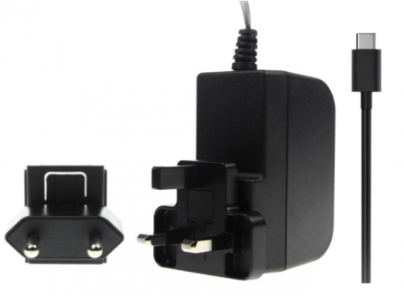Stontronics USB-C 3A voeding Zwart voor Raspberry Pi 4