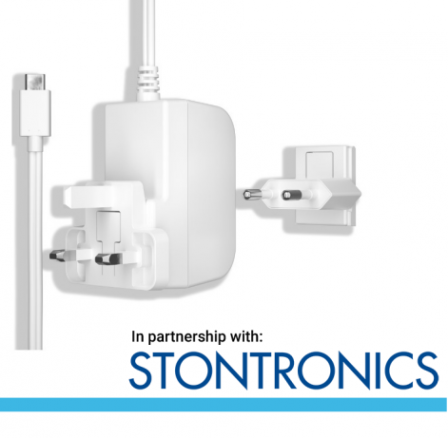 Stontronics USB-C 3A voeding Wit voor Raspberry Pi 4