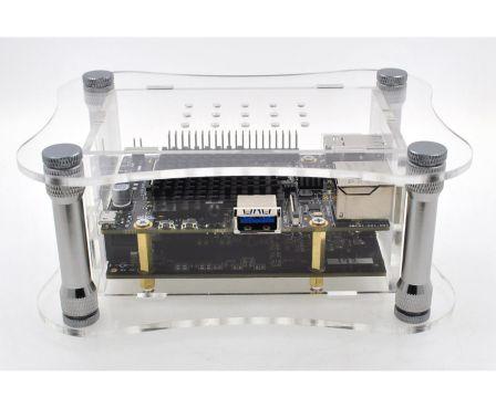 Allo USbridge + Sparky + eMMC 16GB + Transparante Behuizing + 5V Voeding