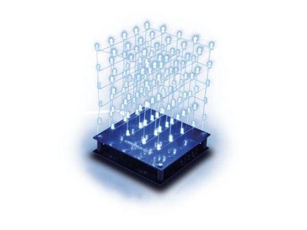 Whadda 3D Led Kubus 5x5x5 Blauwe LED WSL8018B
